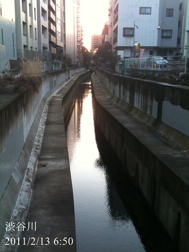 早朝ウォーキング(2011/2/13): 渋谷川