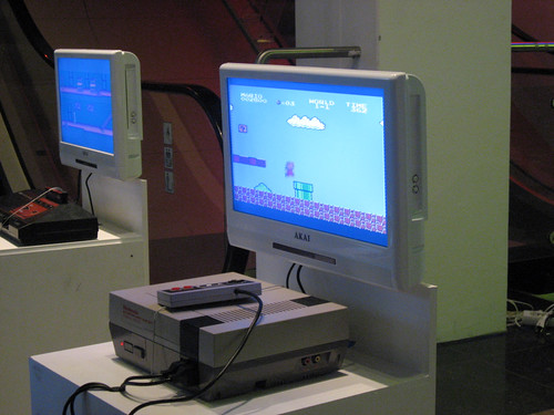 Original Nintendo with Super Mario