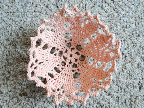 heart doily bowl