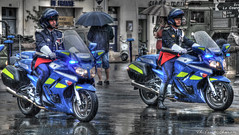 Gendarmerie Nationale MotorcyclesHDR- Yamaha FJR1300 - La Rochelle | 10000 Views on My Flickr (Thibosco17) Tags: