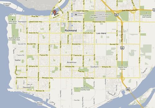 Richmond Olympic Oval Map