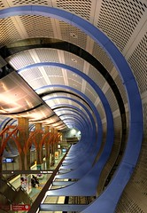 Ready the Supercollider! (Non Paratus) Tags: california usa geometric station subway la vanishingpoint losangeles metro geometry perspective hollywood redline hollywoodhighland laist metroriderla