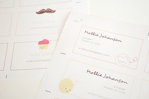 Blog Buddies Calling Cards