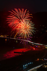 39 (morgan@morgangenser.com) Tags: pacificpalisaddes beach belairbayclub blue celebrate fireworks color iso100 july3rd loud nikon night ocean orange pch people red reflection special spectacular streaks timeexposire tripod yellow amazing