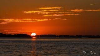Slikken van Flakkee at sunset