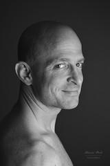 Portrait of man in black and white (alexander.dischoe) Tags: portrait blackandwhite bw sw schwarzweiss gesicht face nikon d800 nikond800 nikkor2470mm studio mann charakter