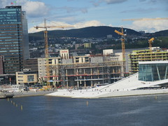 Oslo Harbor - the new National Library under construction (cohodas208c) Tags: oslo harbor constructioncranes underconstruction nationallibraryofnorway bjørvika