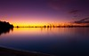 Lake of Fire (ddaniellevan) Tags: canoneos5dmarkii ef24105mmf4lisusm gavowen lakepamamaroo menindee menindeelakes colors fire outback serene sunset water