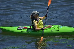 Paddling (swong95765) Tags: kayak paddle woman female lady exercise sport water river paddling