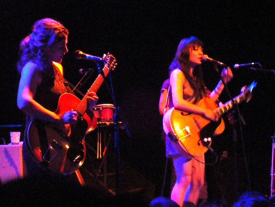 thao and mirah @ northside festival 6/24/10
