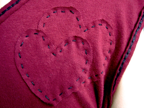 Red T Detail
