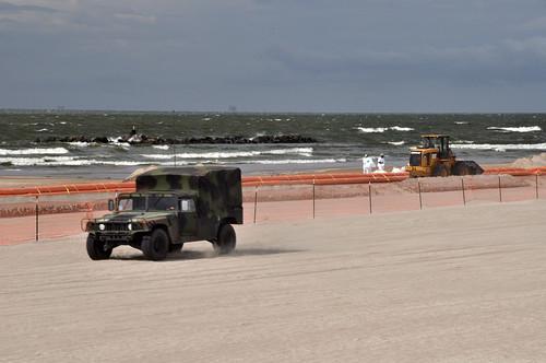 Military on the Beach