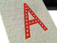 Detail of letterpress business card, printed on 1,000 mic greyboard (typoretum) Tags: businesscards printing block letterpress commission bespoke magnesium typoretum justinknopp