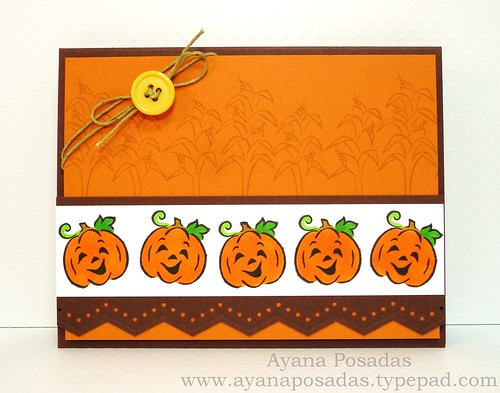 Halloween Card- Orange Pumpkins (1)
