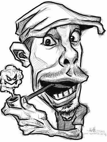 iPad digital caricature of Jason Seiler - 3