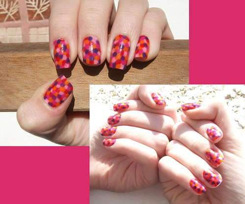 Estampa nail art manicure