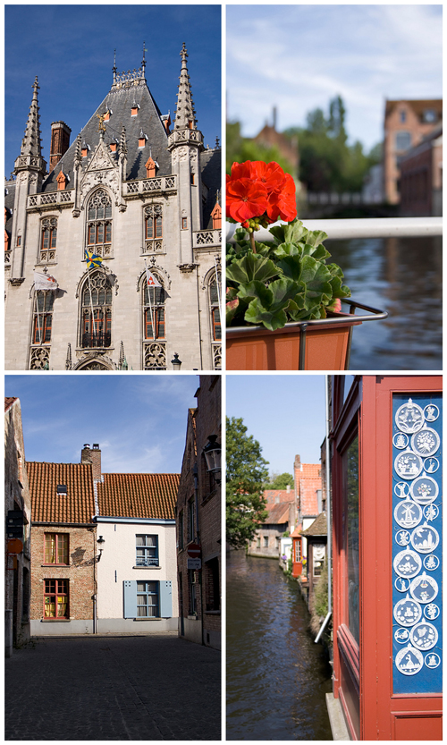 In Bruges, collage
