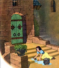 Washing the steps (Starshyne09) Tags: castle water bucket princess illustrations disney snowwhite childrensbook