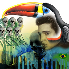 ELVIS (. ♦ F L F ♦ .) Tags: cidade color bird art brasil digital cores dead skeleton skull design ghost muertos bone caveira tucano crânio elvys franciscofreitas