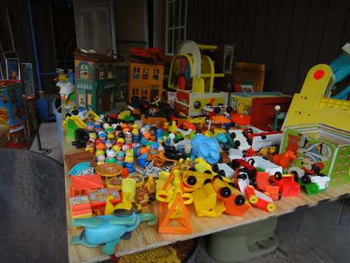 Behold: the Fisher Price stash.