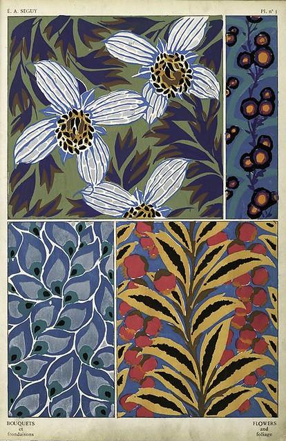 011-Bouquets et frondaisons. 60 motifs en couleur- Eugene Alain Seguy