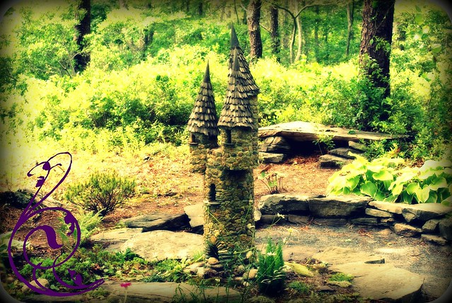 Lavender farm fairy house