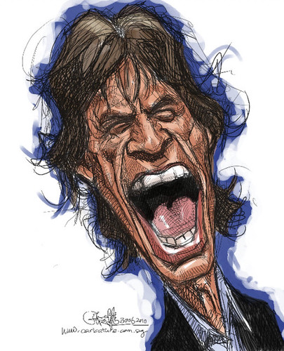 digital caricature of Mick Jagger - 1
