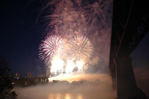 Canada Day fireworks, 2010