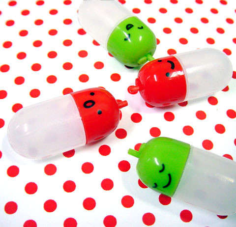 Cute Bento Accessories Sauce Containers APPLE By Shinzi Katoh (by FromJapanWithLove Japanese Kawaii Stationery)