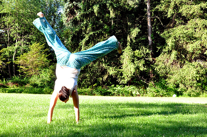 cartwheeling