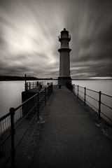 Newhaven (Chee Seong) Tags: city uk sea sky lighthouse motion water sepia clouds contrast canon silver dark scotland movement edinburgh moody village harbour grain conservation forth filter nd area pro newhaven tones firth hoya nd400 efex canon1740mm 9stops 5dm2