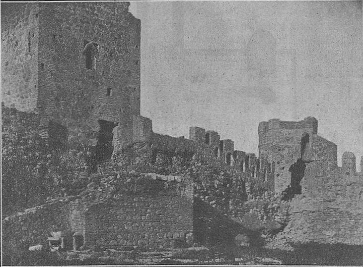 Interior del Castillo de San Servando, lado oriental del lienzo Norte. Finales del XIX o inicios del XX