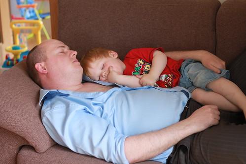 Jt & Daddy Sleeping