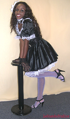 The Black And White French Maid