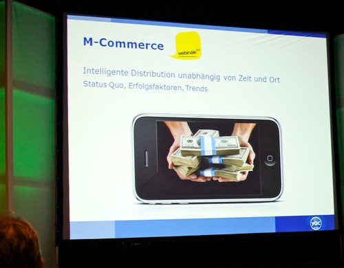 Foto: Mobile Commerce auf der Webinale 2010