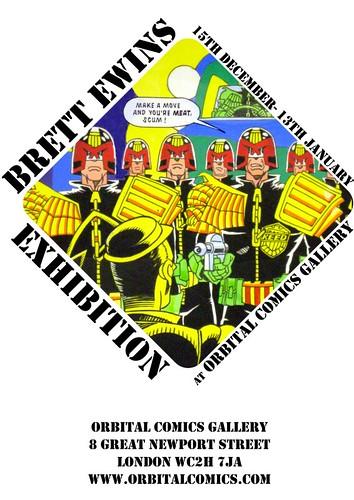 Brett Ewins Exhibition Poster