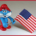 Papa Smurf and US flag