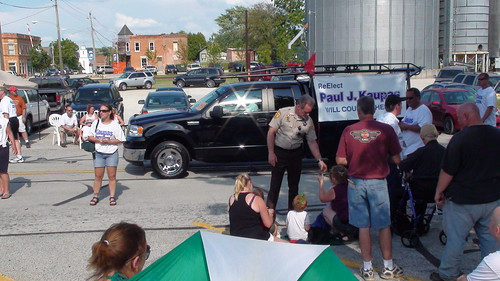Will County Sheriff Paul Kaupas at Beecher Independence Day Parade