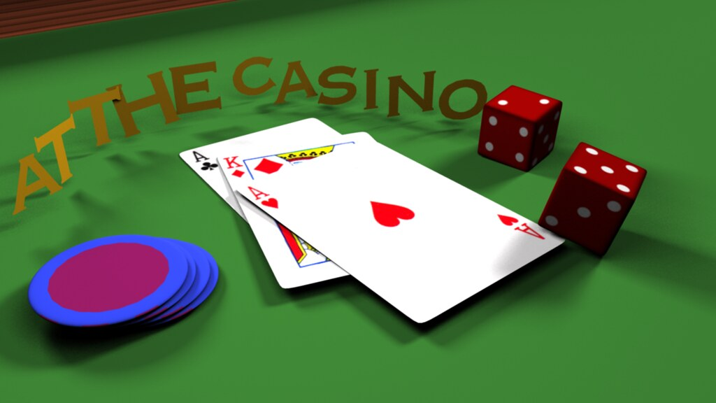 """at the casino "" 3D"
