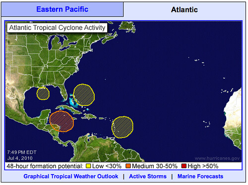 Oh Come on! Four tropical depressions?