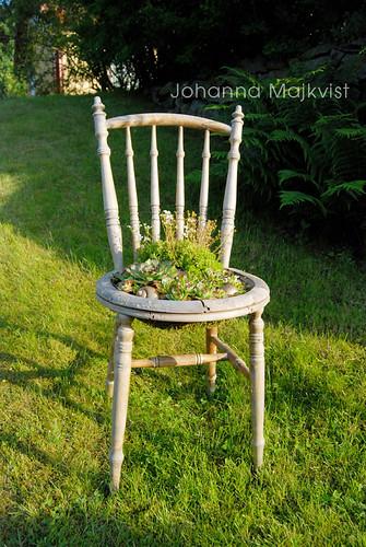blommande stol