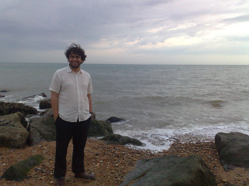 Nic on the beach at Sandgate, Friday 2nd July 2010