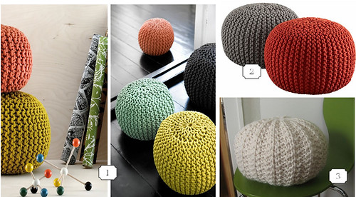 Poufs - look for less