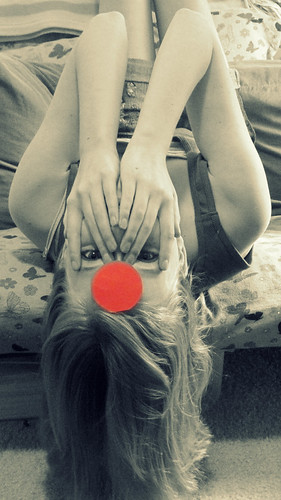 When life gets turned upside down, you have to find those who are willing to hang there with you....(Red Dot)