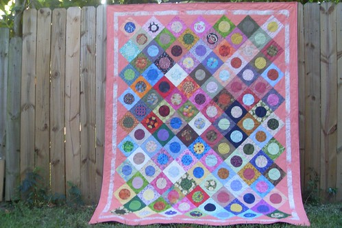 Rho's finished Polka Dot quilt