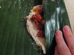 Making Tamales in Banana Leaves