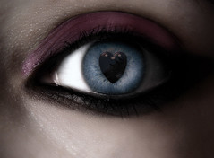 I C U 2 (Poe Tatum) Tags: blue light eye girl photoshop pretty heart manipulation edit