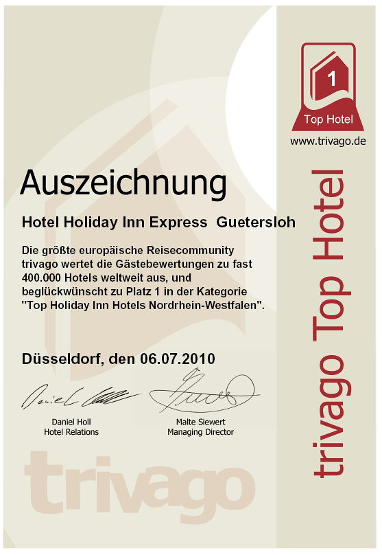 Top Hotel Holiday Inn Express Gütersloh Platz 1 NRW