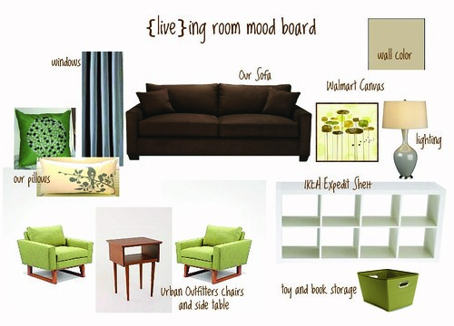 {live}ing room mood board by you.
