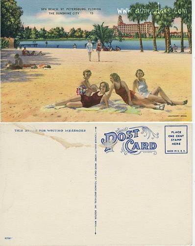 POSTCARD: Spa Beach (St Petersburg FL)